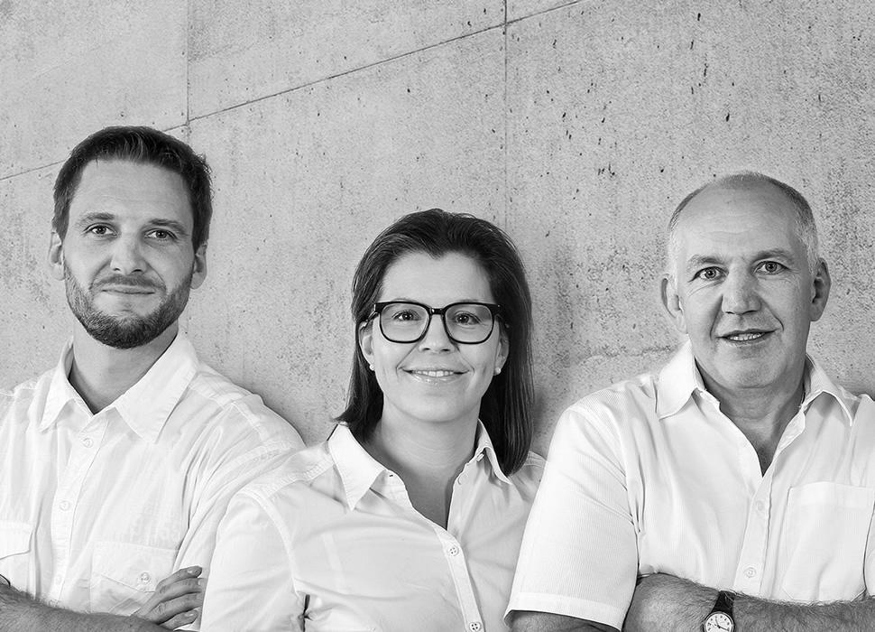 Inhaber e3 - Michael Keel, Nicole Flütsch, Thomas Gosswiler (vlnr)
